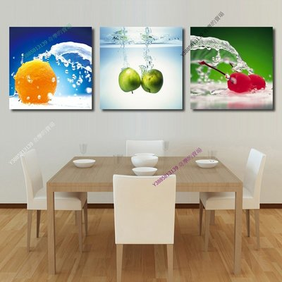 【40*40cm】【厚0.9cm】水果-無框畫裝飾畫版畫客廳簡約家居餐廳臥室牆壁【280101_041】(1套價格)