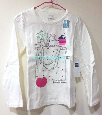 出清現貨  日本baby Gap 純棉印花長袖T恤
