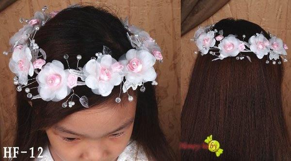 Honey Baby~~HF~12,花童.髮飾.頭花.髮圈/髮箍.搭配任何色係禮服&~頭飾 @