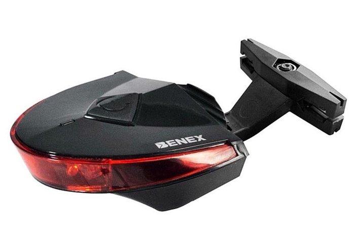 棋盤象 運動生活館 【BENEX】ET-3204 K-MARK 自行車燈 尾燈(不閃爍電池版) 出清特價