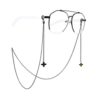 淘趣雜貨店/原宿眼鏡 ins黑色眼鏡鏈防滑通用掛脖鏈條十字架皇冠款鏈子