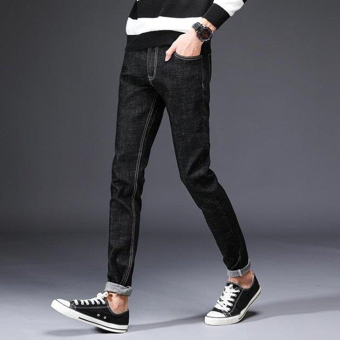 男牛仔褲窄管褲 男裝彈力修身小腳褲韓版潮流男長褲t540