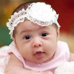 BHL045-韓劇童星愛用品牌POPKID 可愛蕾絲蝴蝶結水鑽嬰兒童寶寶髮帶【現貨】韓國製