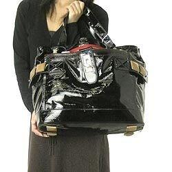 Chloe 7AS863 Large Audra Zipped(Noir)100%正品 大型黑色小羊漆皮肩背包