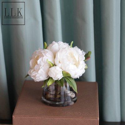 凱佩瑞思~ladylike簡約北歐式裝飾花芍藥仿真花套裝客廳擺設臥室床頭柜擺件