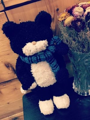 黑貓tiimo貓咪玩偶公仔可愛小貓毛絨玩具抱枕坐墊靠墊女生日禮物