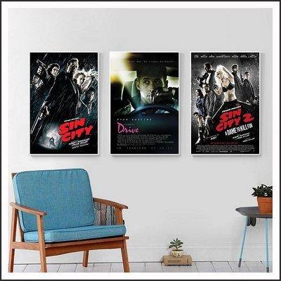落日車神 Drive 萬惡城市 Sin City 電影海報 藝術微噴 掛畫 嵌框畫 @Movie PoP 賣場多款海報~