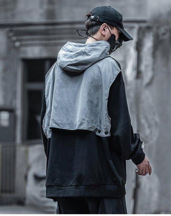 FINDSENSE X 男士 休閑外套青少年機能連帽衛衣上衣外套