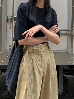 ZIHOPE 短袖T恤女學生夏季韓版純色百搭棉麻打底衫寬鬆半袖上衣潮ZI812