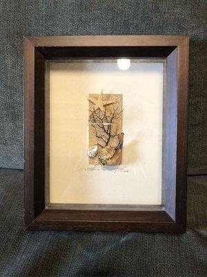 貝殼框 手工製作 尺寸23*27公分 二手商品