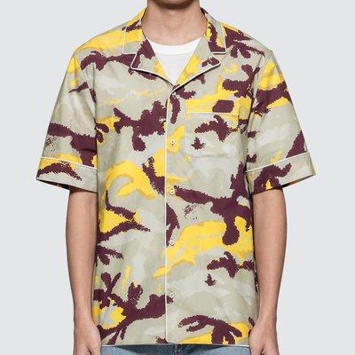 Valentino - Bowling Shirt 男迷彩印花保齡球襯衫 超低折扣代購中