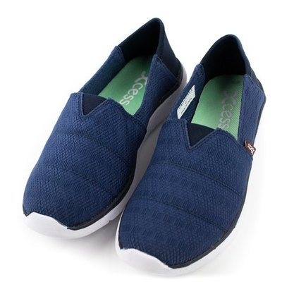 =CodE= XCESS CLASSIC 編織透氣網布休閒鞋(深藍) GW050-NVY TOMS 娃娃鞋 樂福鞋 女