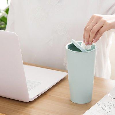 實用多功能桌面垃圾桶迷你小型車載紙蔞垃圾收納盒北歐搖蓋塑料垃圾筒