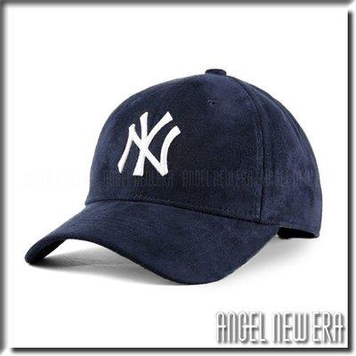 【PD帽饰】【ANGEL NEW ERA 】MLB Old Fashioned Cap NY 紐約 洋基 類 麂皮 老帽 深藍 鴨舌