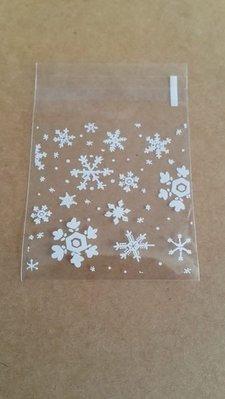 (M009)雪花自黏袋 包裝袋 曲奇 餅乾 糖果 朱古力 食物包裝袋 DIY 手工皂包裝袋 20個