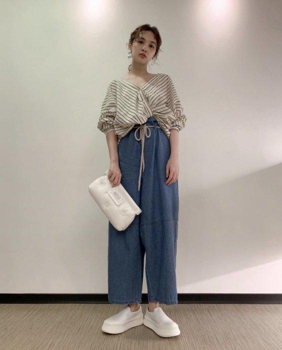 【代購】楊丞琳穿搭 JIL SANDER  帆布皮革 厚底 休閒鞋