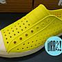 【URA 現貨】士林經銷 加拿大潮流鞋 Native jefferson Crayon Yellow  黃色 奶油底 懶人鞋 全新