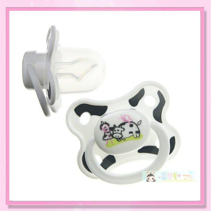 <益嬰房>貝喜力克(拇指型) 乳牛斑斑安撫奶嘴 (S/M) D329/D330