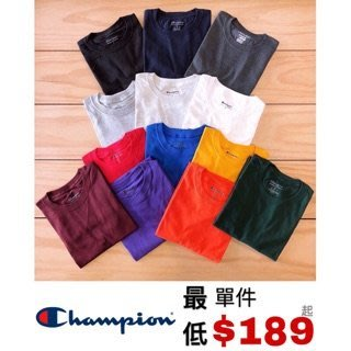☆ETW☆【一中店】特賣 CHAMPION BASIC TEE T425 美國 重磅 冠軍 素色 短T 素T 黑 白 灰