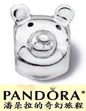 潘朵拉絕版品{{潘朵拉的奇幻旅程}} PANDORA -Teddy Bear Head Bead 熊頭 790121
