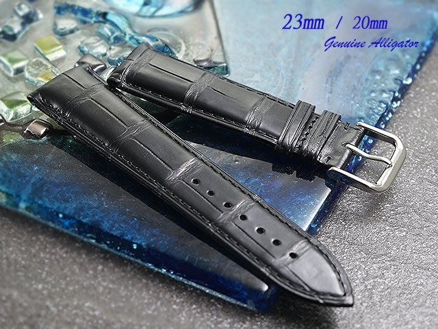 【時間探索】 全新伯爵 Piaget Emperado 國王系列專用特仕款鱷魚皮代用錶帶 ( 23mm)