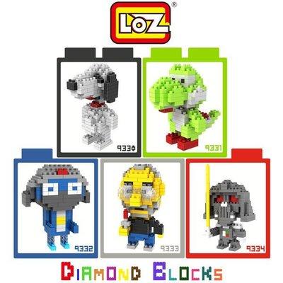 *PHONE寶*LOZ 鑽石積木-9330 - 9334 卡通系列 Snoopy 耀西 軍曹 賈伯斯 達斯維達 迷你積木