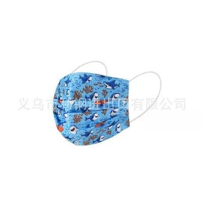 BVG*/一次性兒童彩色口罩可愛獨角獸口罩三層防塵透氣時尚卡通鯊魚動漫口罩 買二免運-*KaL