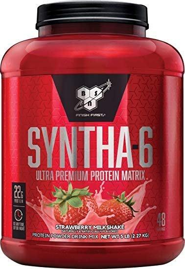 宙斯健身網-BSN Syntha-6 勁量低脂複合乳清蛋白5磅(草莓) (健身 高蛋白) 公司貨 + 不鏽鋼攪拌球