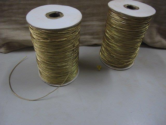 二手鋪NO.4362 銀色彈性繩 金蔥 彈力繩 鬆緊帶 小吊牌 吊卡 禮盒 烘焙包裝 手工皂 月餅 彌月 固定裝飾 束繩