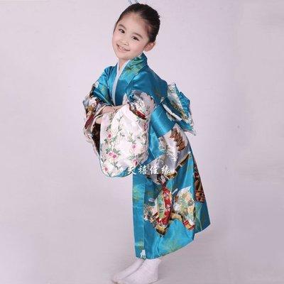 5Cgo【鴿樓】會員有優惠 38436549035 兒童古裝日本和服民族服裝舞台演出服裝古裝日式和服