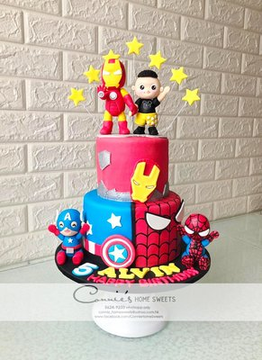 【Connie's Home Sweets】superhero cake marvel cake ironman cake spider-man cake