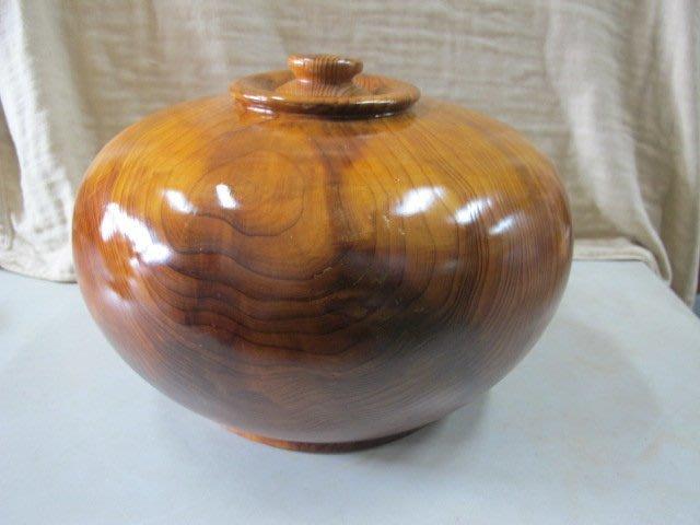 二手舖 NO.1621 台灣 香杉  黑格 重油 聚寶盆 樹瘤 紅檜 黃檜 肖楠 聞香瓶 檜木 紋路明顯漂亮