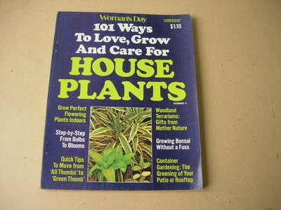 1976 HOUSE PLANTS Woman Day 101ways to love, grow and care for【VINTAGE MAGAZINE】