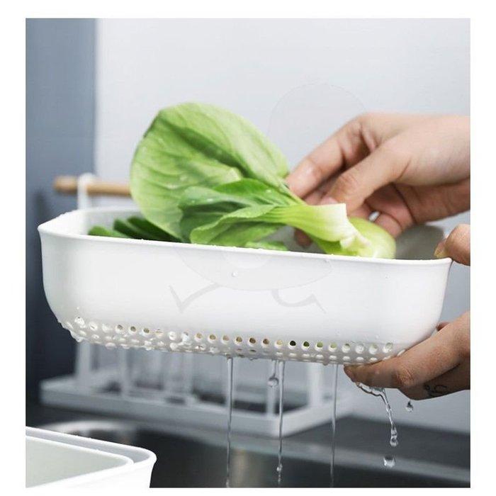 廚房瀝水籃洗菜籃 居家創意水果菜籃子三件組_☆[好餐廳_SoGoods優購好]☆