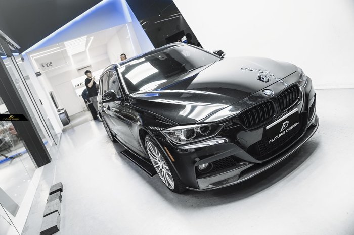 【政銓企業有限公司】BMW F30 F31 MTECH 專用 P款 三件式 抽真空 卡夢 前下巴 免費安裝 現貨供應