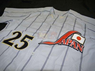 貳拾肆棒球--珍藏!Mizuno日本代表日職棒新井貴浩客場球衣
