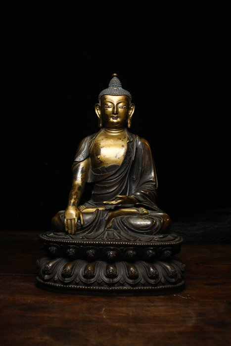 悅年堂 --- 銅 泥金 釋迦牟尼