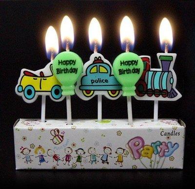 (甜心手作坊)可愛火車組合生日蠟燭 工藝蠟燭 蛋糕裝飾蠟燭1組