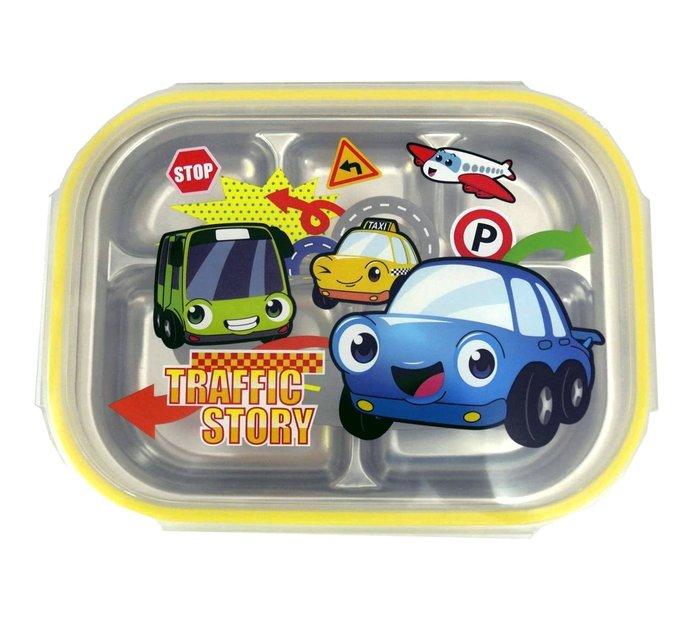 高麗購◎韓國製 304不鏽鋼 樂扣式 兒童餐盤 韓式便當盒/汽車寶貝/便利帶寄送運費只收35元