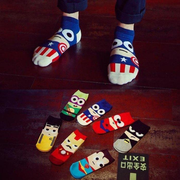 7雙裝襪子男春夏季船襪短襪棉襪短筒可愛卡通動漫情侶襪潮MUYOU-t239