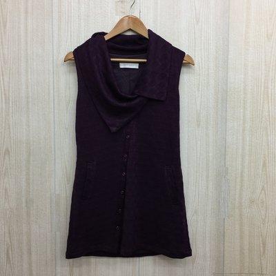 【愛莎&嵐】KiKi 女 紫色立領無袖上衣 /  M 1071024