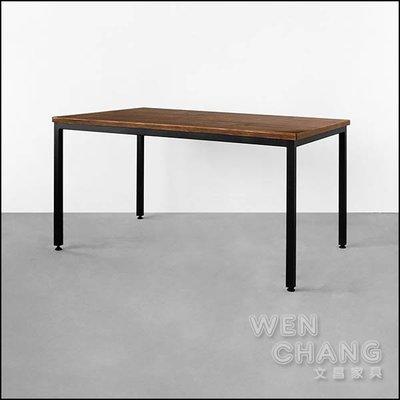 工業風 巴拉圭松長桌 餐桌 150x90cm CUA-008 *文昌家具*