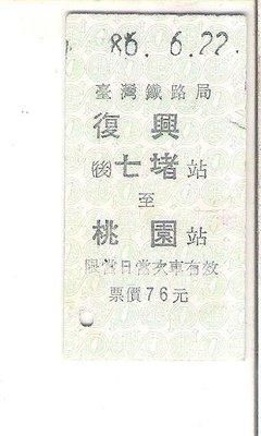 雅雅拍賣-早期鐵路火車票1張(品項如圖)-006