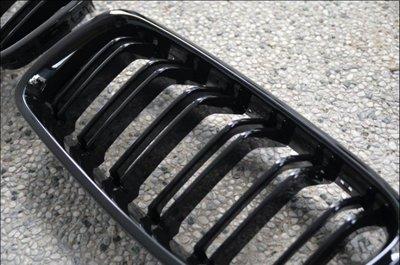 {阿勳精品}..全新 BMW F30 F31 LOOK 雙線 鋼琴黑 亮黑 水箱罩 水箱護罩