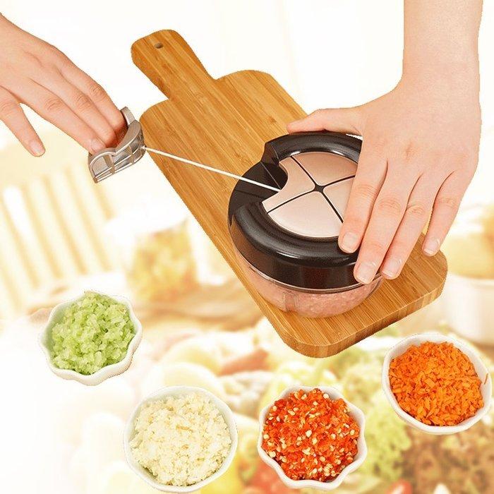 【寶媽必備五刀流切菜器】絞肉機 手拉式切菜器 拉拉機 切碎器 寶寶副食品 調味料 攪碎 絞菜 切菜 碎菜 (五刀大款)