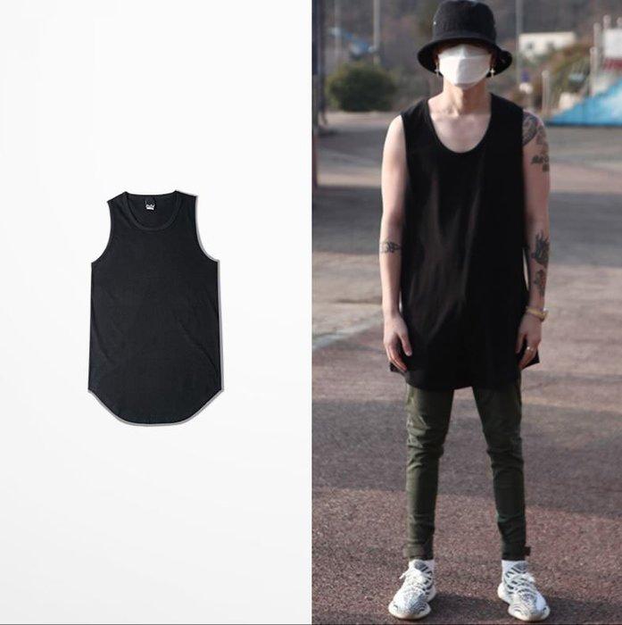 【NoComment】美式休閒潮流的一款圓弧加長型無袖背心 七色 Uniqlo Adidas
