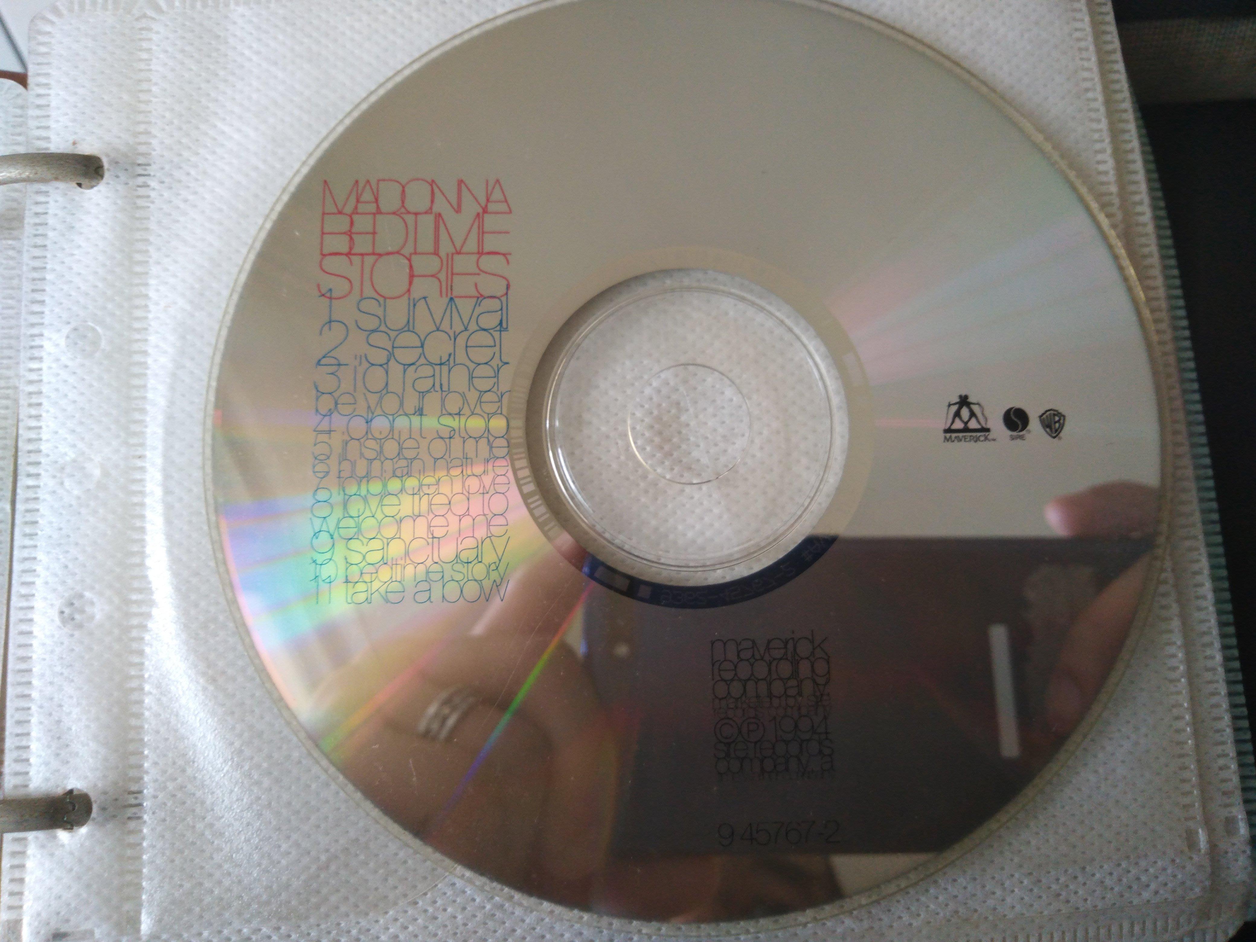二手CD裸片 ~瑪丹娜Madonna (枕邊故事Bedtime stories ) CD 有細紋不影響音質