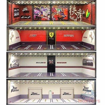 GEECHAN-MODEL164汽車模型展示櫃 USBlightsFinished~XOMF202191