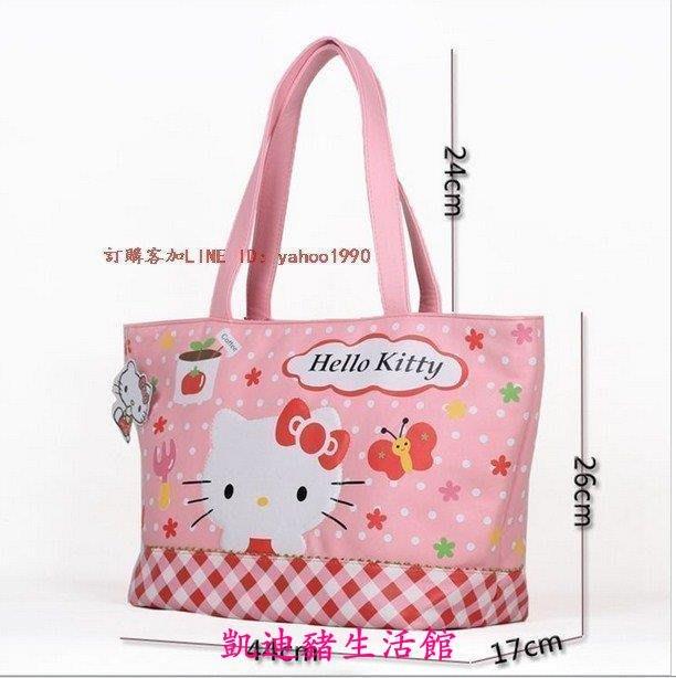 【凱迪豬生活館】新款hello kitty時尚可愛女包 大容量包袋購物袋  柔軟手提包 媽咪包 休閑單肩包$$KTZ-200978