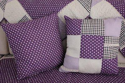 ~布藝天下~ 紫沙發墊布藝時尚現代簡約沙發套高檔防滑全棉田園坐墊歐式沙發巾 彼岸咖啡 紫  D25